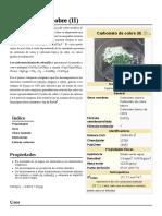 Carbonato de Cobre (II)