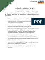 Checkliste Wohnungsübergabeprotokoll
