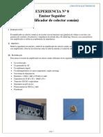Emisor seguidor informe final circuitos electrónicos 1