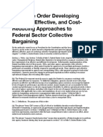 Executive Order 13836 - Reducing Cost of Federal Sector Labor Negotiations