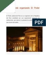 Cómo Está Organizado El Poder Judicial