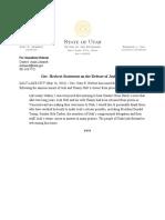 Gov. Herbert's statement on the release of Josh Holt