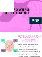 The Powers of the Mind Continuation