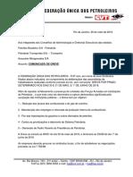 FEDERAÇÃO ÚNICA DOS PETROLEIROS - Comunicação de Greve