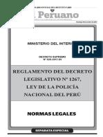 ds n 026 2017 in reglamento de la ley de la pnp