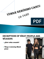 Diapositiva Yower Gerónimo Cancu Decriptions of What People Are Wearing