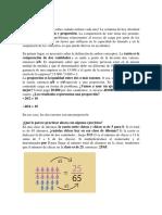 RAZONAMIENTO, Razón Proporción y Porcentaje
