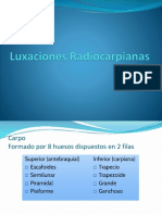Luxaciones Radiocarpianas