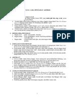 Panduan Penulisan Artikel & Poster Full