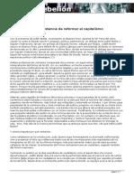 Rep - Butler y La Insistencia de Reformar El Capitalismo (2009)