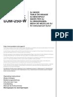 Djm-250 Manual en Fr de It Nl Es Pt Ru