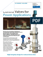 Control Valves for Power Applications