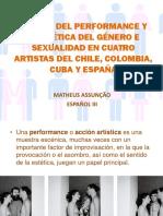 El Arte Del Performance y La Poética Del