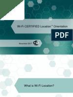 Wi-Fi CERTIFIED Location Orientation
