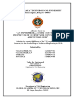 Geopolymaer Concrete Project Report from Global Academy  Of Technology (Published on 27/05/2018) as per the VTU guidelines