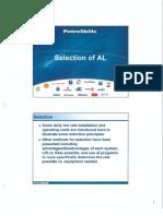 Selection of AL