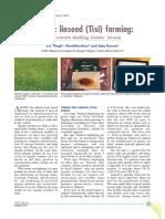 Organic Linseed (Tisi) Farming