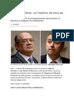 Barroso e Gilmar - Um Histórico de Troca de Farpas