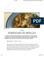 Romescada de merluza | Recetas El Comidista EL PAÍS