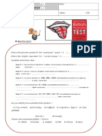 Test Phonetics Word Stress 2018