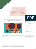 A Educação Linguística No Brasil - Artigo Acadêmico Do Curso de Letras - Let It Be, Blog.