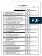Inland Checklist