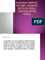Maquinas Simplex, Milanes, Maquina Recta de Doble Fontura