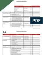 27001 Transition Checklist - Very Good