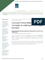 Concurso Polícia Militar PM AM 2018_ Comissão Do Edital Para 5.865 Vagas é Formada! - Notícias ConcursosNotícias Concursos
