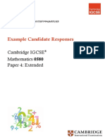 Maths 0580 candidate response sample answers booklet