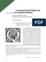 Vesalio, Andrea - De Humani Corporis Fabrica, Prefacio