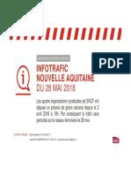 Le trafic sur les lignes en Nouvelle-Aquitaine 28 Mai 2018