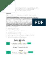 Lazo Abierto y Cerrado (PLC)