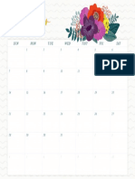 October Wall Calendar