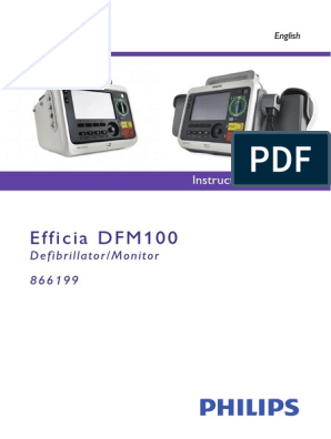 Efficia DFM100 English Instructions for Use | Electrocardiography