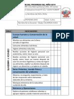 Informe Del Progreso Del Niño Coovitiomar 3 Años 2016