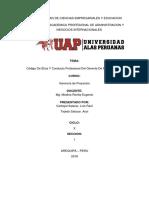 Código de Ética y Conducta Profesional Del Gerente de Proyecto PMI EXPOSICION 1