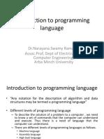 1 Introduction Programming Language