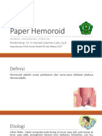 Paper Hemoroid