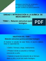 Medicamentos. Unidad 1. Tema 1. 2016