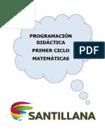 Programacion Matemáticas Ciclo 1º