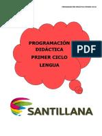 Programacion Lengua Ciclo 1º