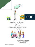 Los medios de  transportes. Preposiciones