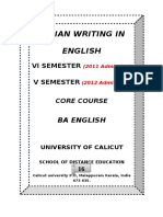 VI Sem Study Material Indian Writing in English Pub on 24june2014