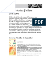 Ficha Tecnica Hornero 1000 Pesos