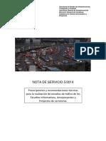 Nota de servico 5/2014 recomendaciones estudios tráfico