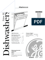 Ge Triton Xl Dishwasher Manual