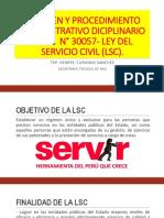 Regimen y Procedimiento Administrativo Diciplinario