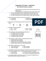 Chemistry Practice Test With Answer for Physical Science Major