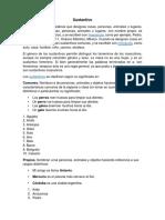 Sustantivo Concepto y Clasificacion Con 10 Ejemplos